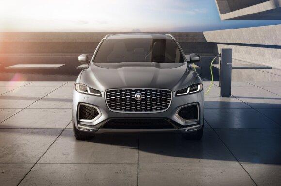 """""""Jaguar"""" pristatė naują """"F-Pace"""" versiją: šįkart įkraunamas hibridas"""