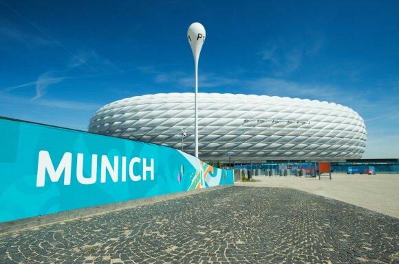 """Miuncheno """"Allianz"""" futbolo arena dieną"""