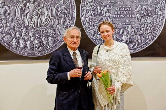 Lina Kalinauskaitė su tėvu