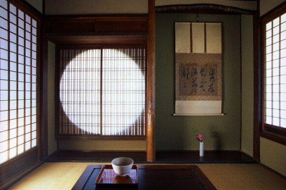 Japoniškos arbatos gėrimo ceremonijos kambarys