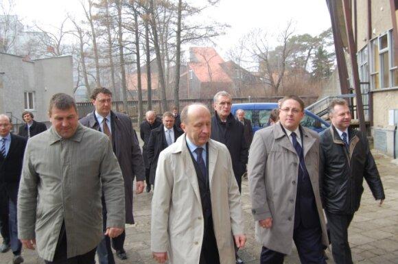 """S.Simė, Š.Vaitkus, A.Kubilius (iš dešinės), """"Palangos tilto"""" nuotr."""