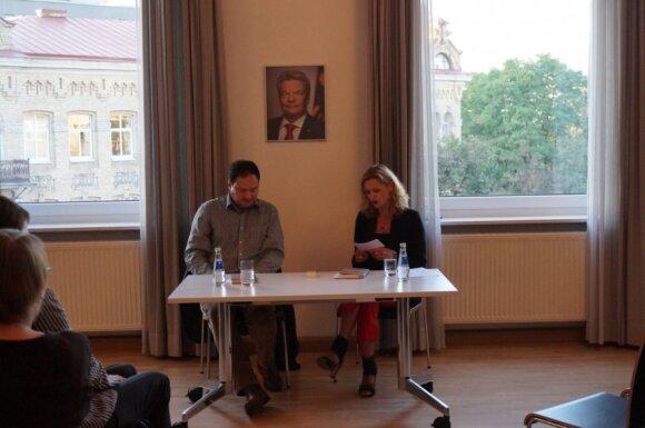 "Thomas Melle knygos ""3000 eurų"" pristatymas. Goethe's instituto nuotr."
