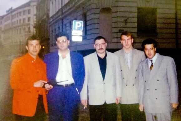 Igoris Tiomkinas (pirmas iš k.), Dovydas Kaplanas (antras iš k.)