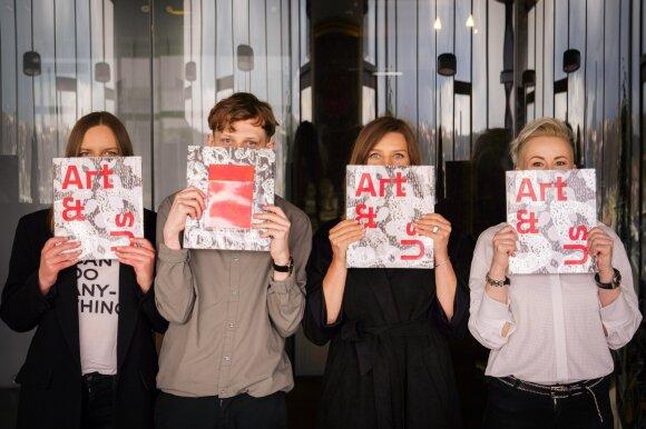 Knygos projekto koordinatorė Giedrė Marčiulaitė, dizaineris Vilius Dringelis, sudarytoja Ugnė Bužinskaitė ir projekto vadovė Indrė Tubinienė