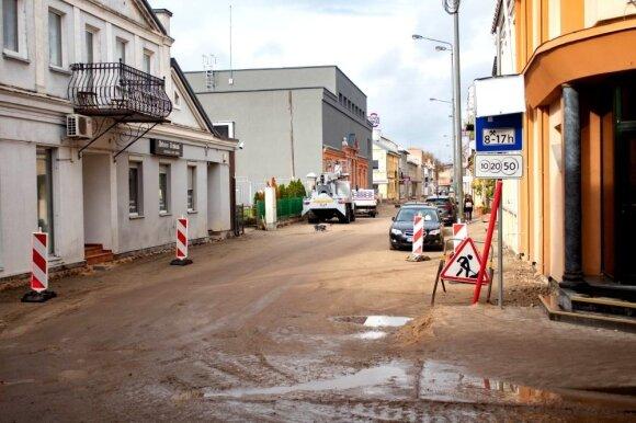 Panevėžyje sukilo verslininkai: nori žinoti, kada bus baigti Respublikos gatvės remonto darbai