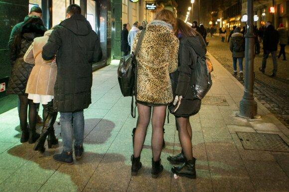 Naujųjų metų šėlionės Vilniaus gatvėse