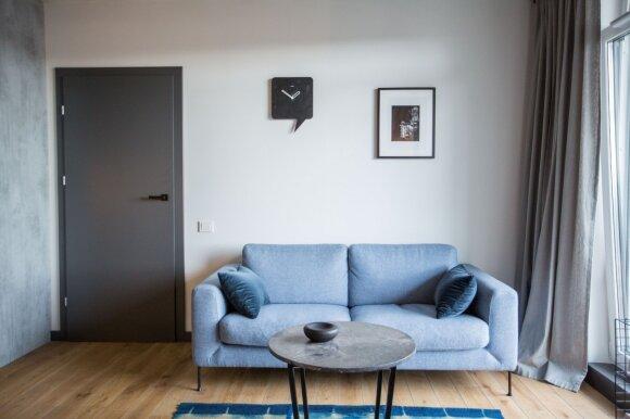 44 kv. m. butas: eklektika industriniame Vilniaus rajone