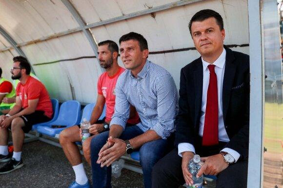 Sergejus Jakirovičius (kairėje), Mindaugas Nikoličius