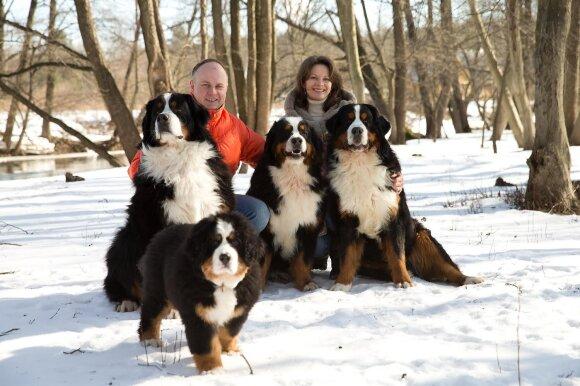 Erikas Piskunovas su šeima