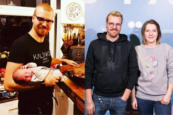 Robertas Kalinkins su žmona ir dukrele