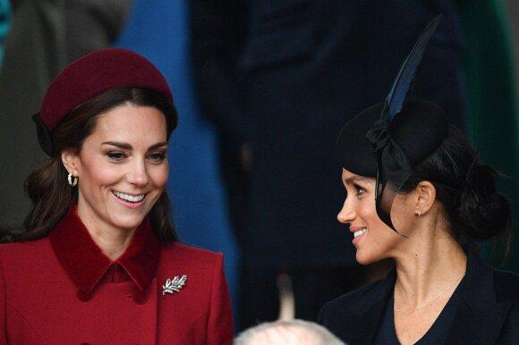 Kate Middleton ir Meghan Markle per karališkąsias Kalėdas