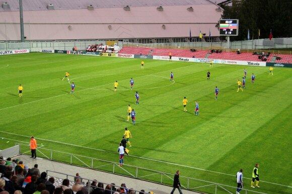 Paskutinė Lietuvos rinktinės viešnagė Marijampolėje vyko 2013 metais, kuomet žaista su Lichtenšteinu