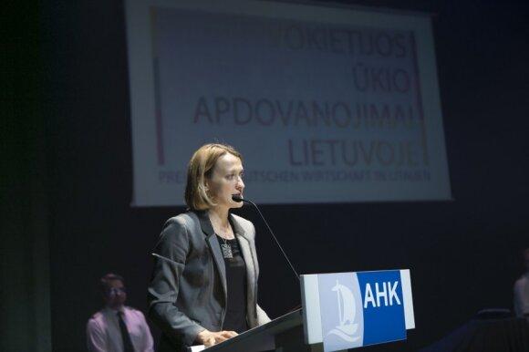 Presidential adviser Giedre Kaminskaitė-Salters at German Business Awards. Photo by Vincas Alesius, AHK Baltic States