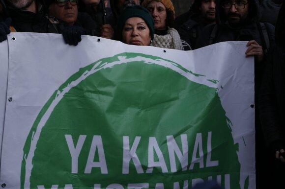 Protestas prieš Stambulo kanalą