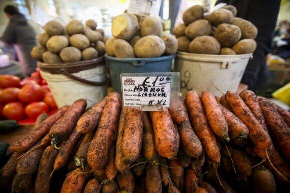 Po apsilankymo turguje liko šokiruotas bulvių kainų