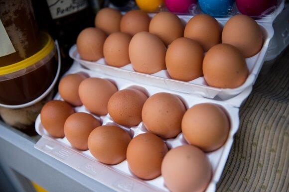 Šią klaidą daro daugelis: štai kodėl kiaušinių negalima laikyti šaldytuvo durelėse