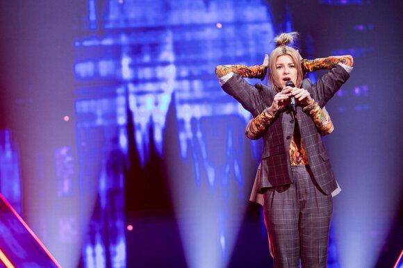 """Nacionalinės """"Eurovizijos"""" atrankos akimirka"""