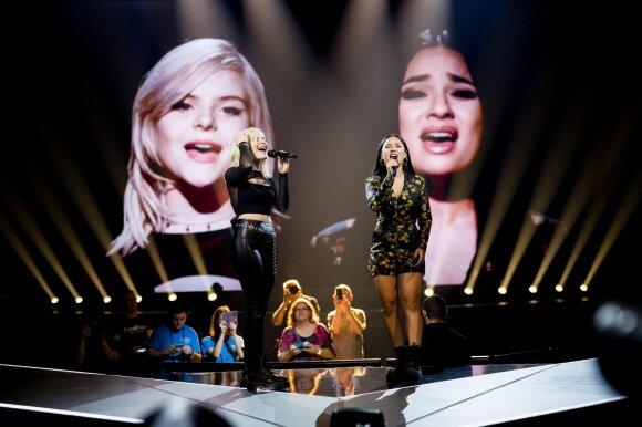 """Eurovizijos finalas. Vokietija: Grupė """"S!sters"""" – Sister"""
