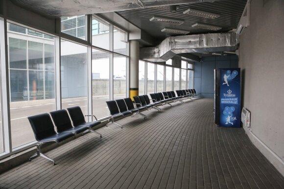 Vilniaus oro uosto vieta, kur tenka laukti keleiviams prieš skrydį