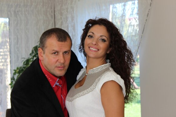 Jordanas Poškaitis su žmona