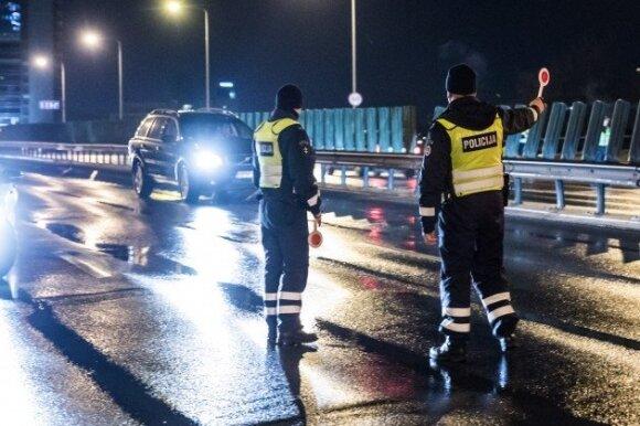 Naktinis policijos reidas Viniuje