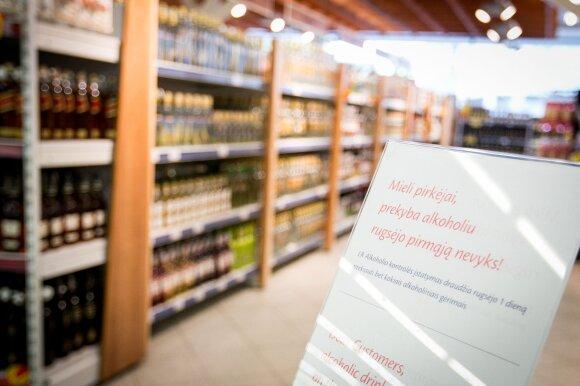 Rytoj alkoholinių gėrimų parduotuvėse neįsigysite: vyks patikrinimai
