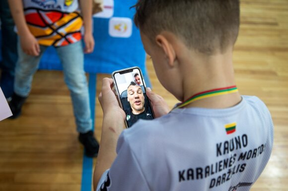 Lukas Jasikevičius ir Šarūnas Jasikevičius / Foto: NKA