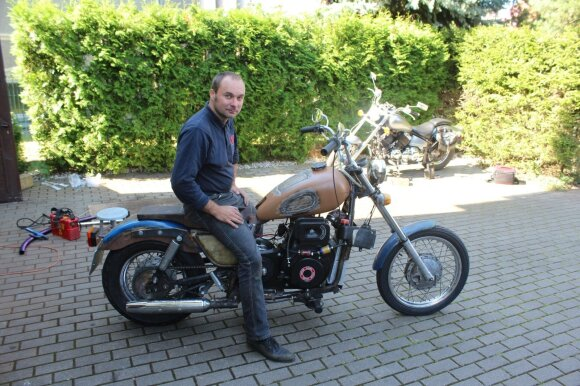Motociklui litro dyzelino užtenka valandai