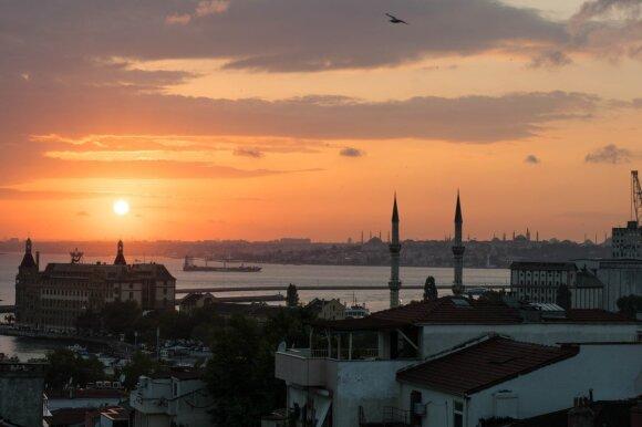 Vaizdas į Stambulą nuo stogo Kadikoy rajone