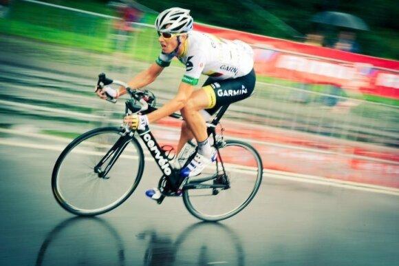"""""""Velomaratone"""" – """"Tour de France"""" etapą laimėjęs dviratis"""