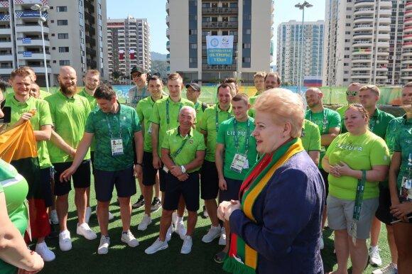 Dalia Grybauskaitė Rio de Žaneiro olimpiniame kaimelyje