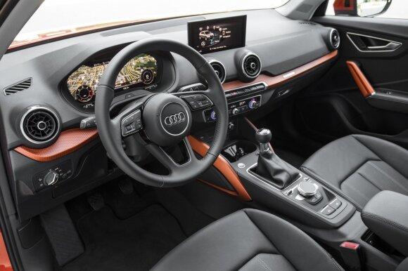 """Audi Q2"" interjero detalės jau matytos"