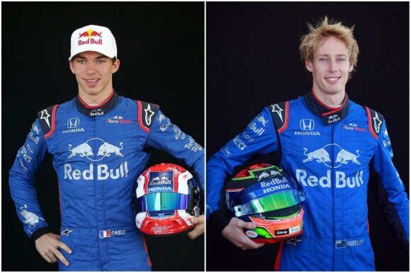 Pierre'as Gasly ir Brendonas Hartley