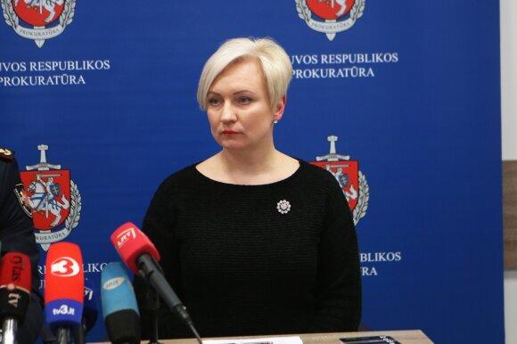Spaudos konferencija apie gaisrą Kaune