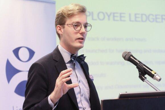 Švedijos organizacijos TIMBRO ekspertas Caspianas Rehbinderis (nuotr. Martyno Ambrazo)