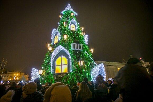 Kalėdų eglės įžiebimo šventė 2015 m.