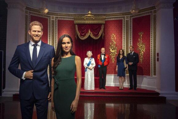 Britanijos karališkosios šeimos narių vaškinės figūros