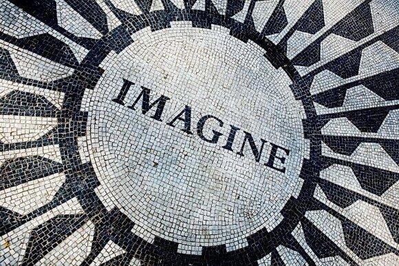 "Mozaika ""Imagine"" skirta John'ui Lennon'ui atminti"