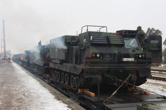 Vokiečiai į pratybas atsigabeno Lietuvoje dar nematytą ginkluotę