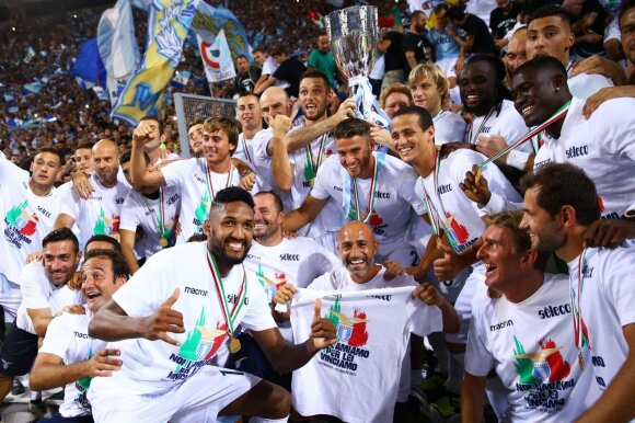"""Romos """"Lazio"""" futbolininkai"""