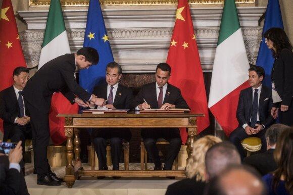 Kinija ir Italija pasirašo bendradarbiavimo sutartį