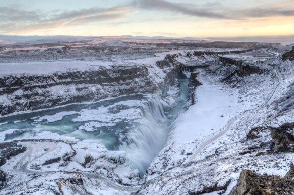 Gulfoso kriokliai Islandijoje
