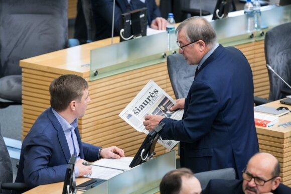 NT mokesčio mokėtojų paieškos parlamente: mokėsiu, ir daug
