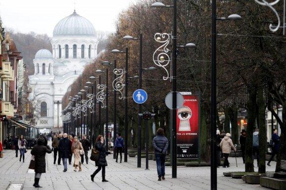 Kaunas puošiasi šventėms