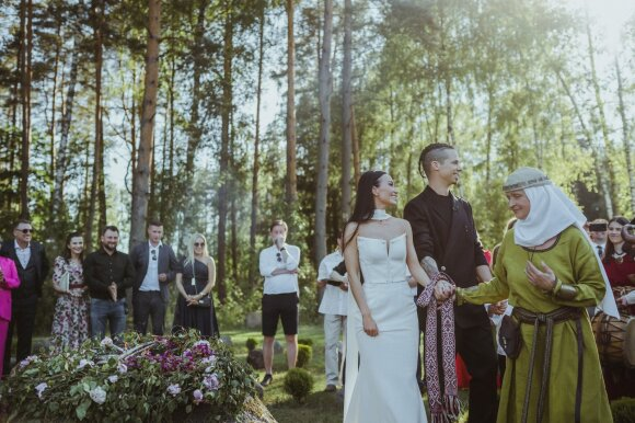 """Karinos Krysko ir Jeronimo Miliaus vestuvių akimirkos /Foto: """"Laima and Simas"""""""