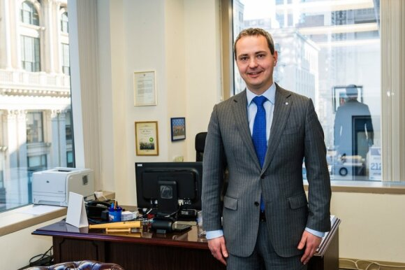Julius Pranevicius, Lithuania's Consul General in New York City  Photo Ludo Segers