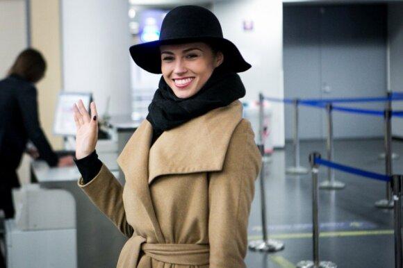 """Agnė Kavaliauskaitė išvyko į konkursą """"Mis pasaulis 2014"""" Londone"""