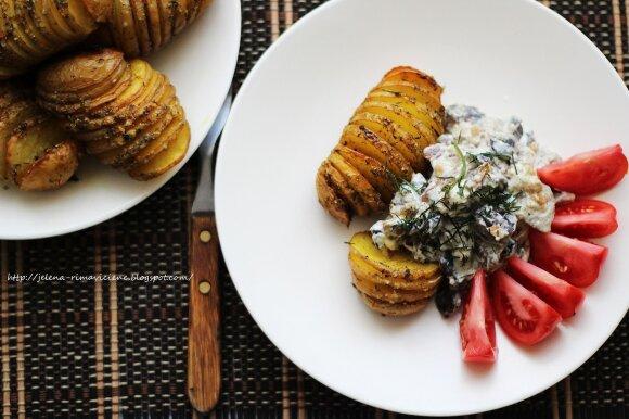 Savaitgalio receptas: bulvės-vėduoklės