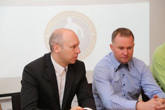 Nerijus Masiulis (kairėje), Kazys Maksvytis (Foto: LSU)