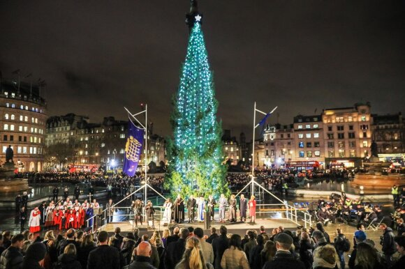 Kalėdų eglė Londone